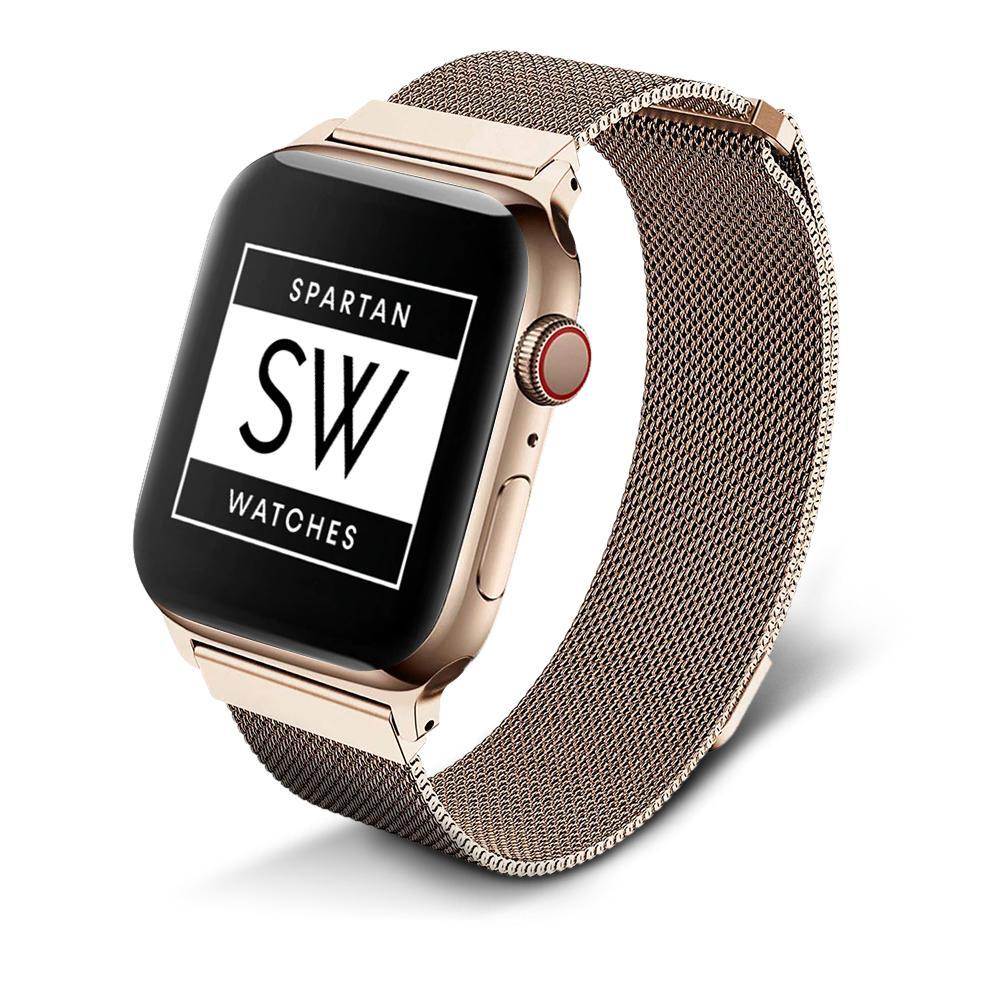 Spartan Watches Apple Watch Clearance Sale FINAL SALE: Milanese Magnetic Loop, Gold, 42mm | 44mm