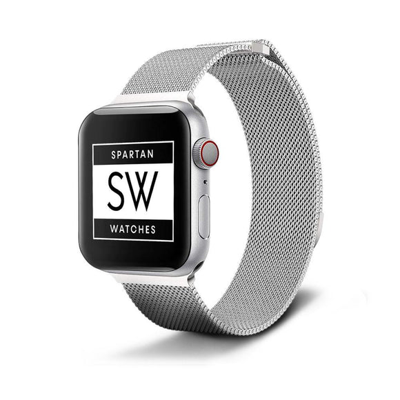 Spartan Watches Apple Watch Clearance Sale FINAL SALE: Milanese Magnetic Loop, Silver, 42mm | 44mm