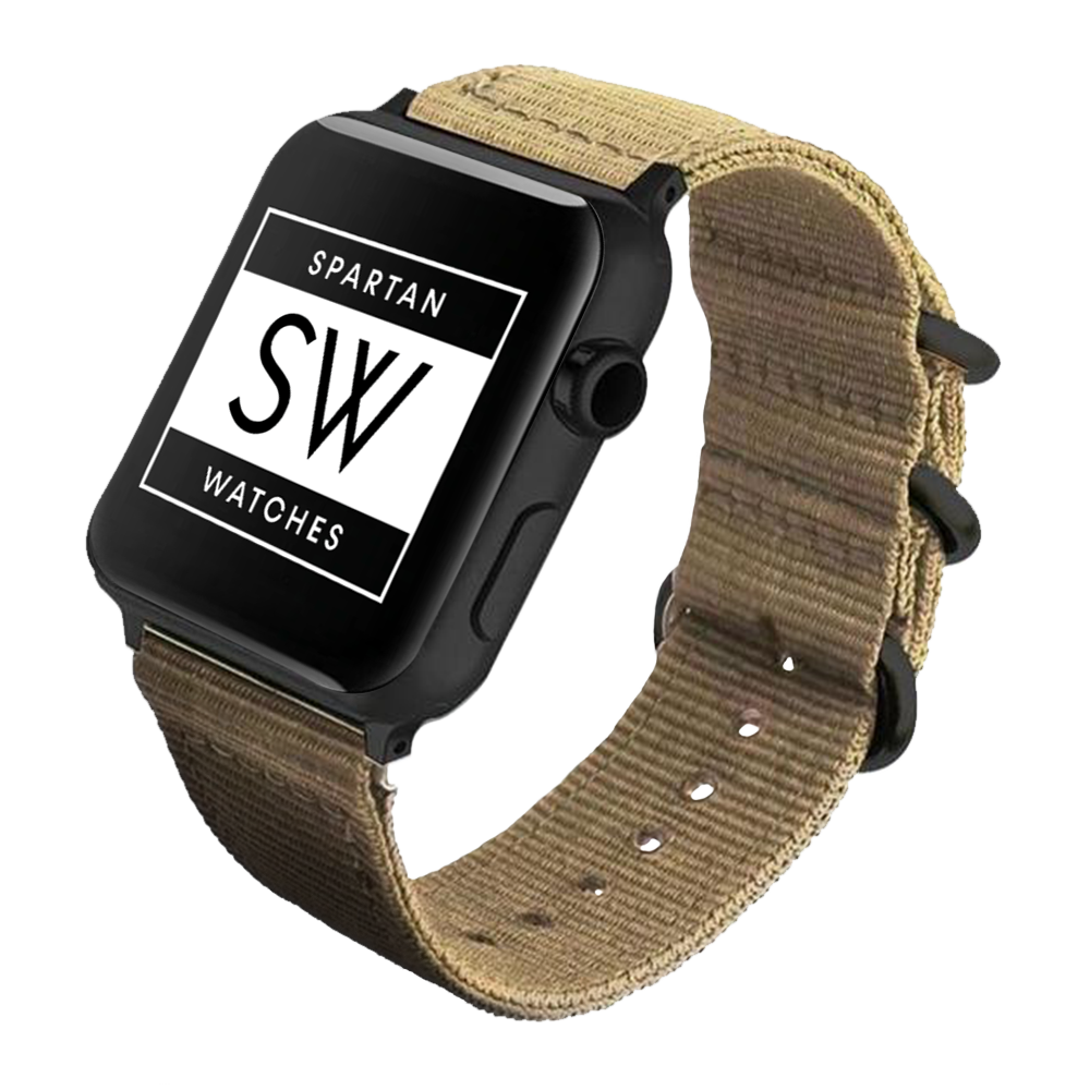 Spartan Watches 42mm | 44mm FINAL SALE: Nato Nylon Band for Apple Watch, Khaki 42mm | 44mm