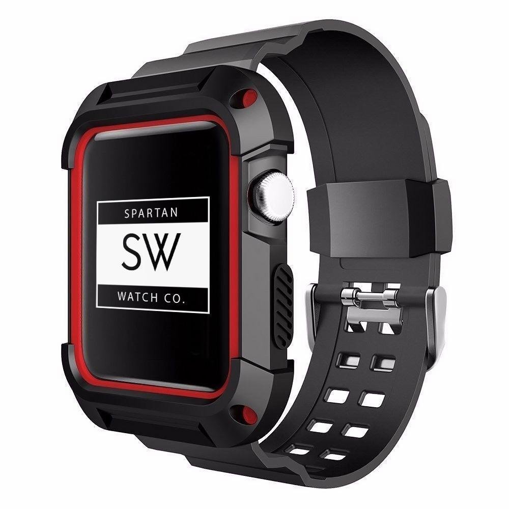 Spartan Watches Apple Watch Clearance Sale FINAL SALE: Rugged Protective Sports Case, Red, 38mm | 40mm