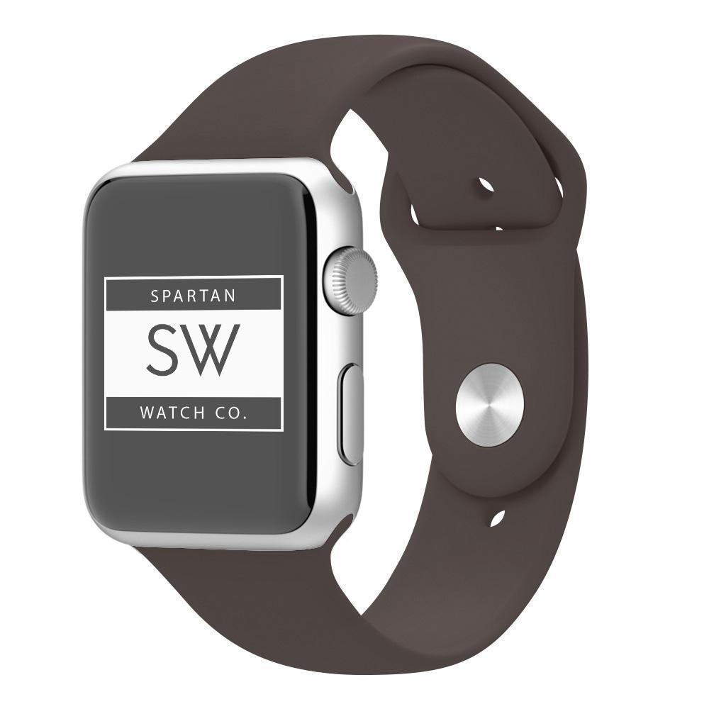 Spartan Watches 38mm | 40mm 3PCS FINAL SALE: Silicone Band for Apple Watch, Cocoa