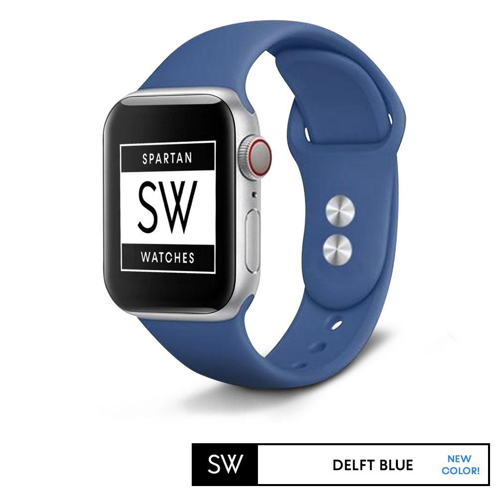 Spartan Watches FINAL SALE: Silicone Band for Apple Watch, Deft Blue, Small 38mm | 40mm
