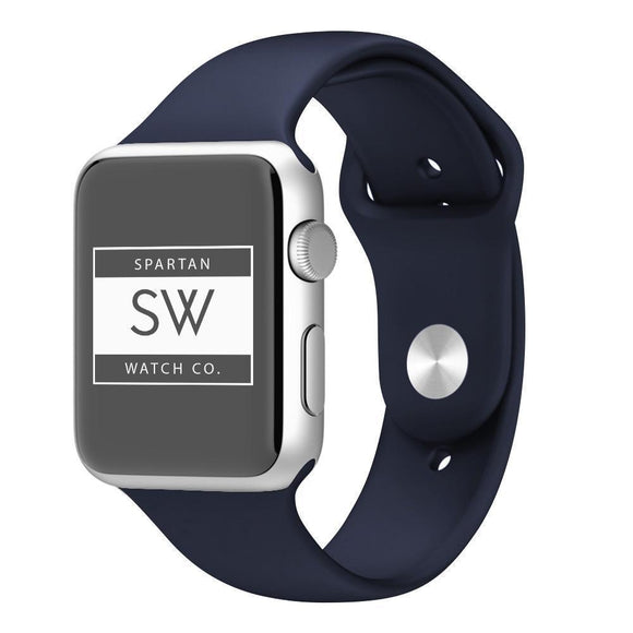 Spartan Watches FINAL SALE: Silicone Band for Apple Watch, Midnight Blue, 42mm | 44mm