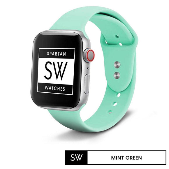Spartan Watches 38 | 40mm FINAL SALE: Silicone Band for Apple Watch, Mint Green, Small