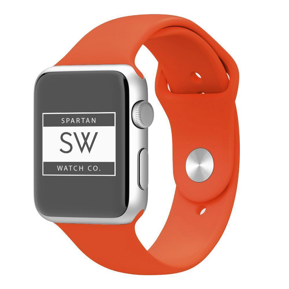 Spartan Watches FINAL SALE: Silicone Band for Apple Watch, Orange, 38mm | 40mm