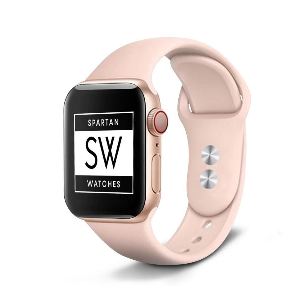 Spartan Watches Large FINAL SALE: Silicone Band for Apple Watch, Pink Sand, 42mm | 44mm