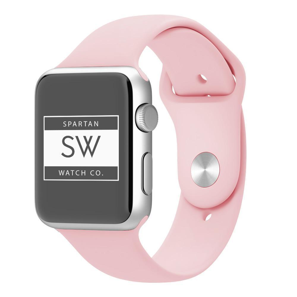 Spartan Watches FINAL SALE: Silicone Band for Apple Watch, Vintage Rose, 42mm | 44mm Large