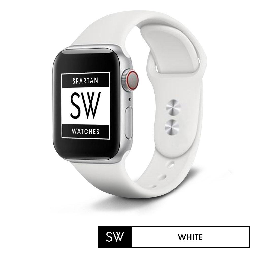 Spartan Watches FINAL SALE: Silicone Band for Apple Watch, White, Small 38mm | 40mm