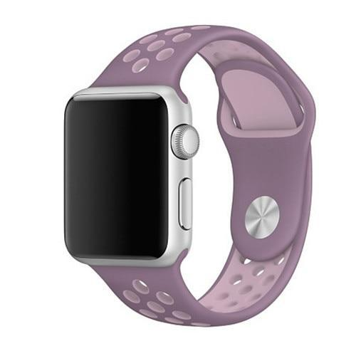 Spartan Watches Apple Watch Clearance Sale FINAL SALE: Silicone Sport, Lavender / Pink, 42mm | 44mm