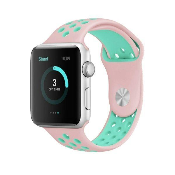 Spartan Watches Apple Watch Clearance Sale FINAL SALE: Silicone Sport, Pink / Green, 38mm | 40mm