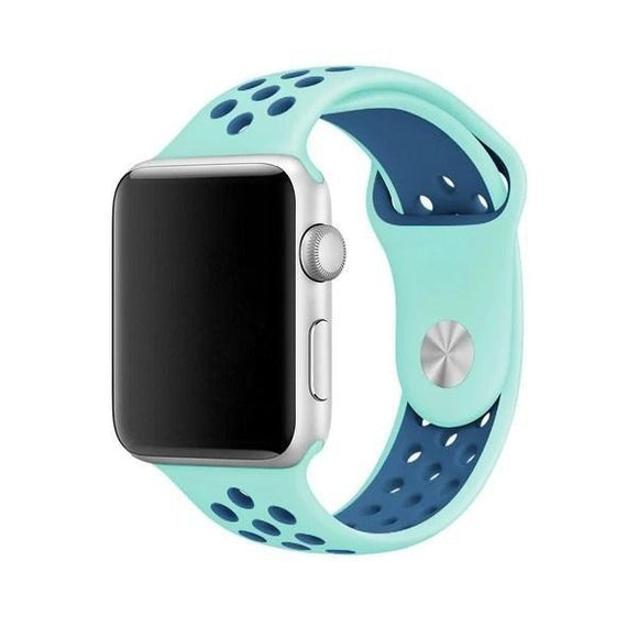 Spartan Watches Apple Watch Clearance Sale FINAL SALE: Silicone Sport, Turquoise / Blue, 42mm | 44mm