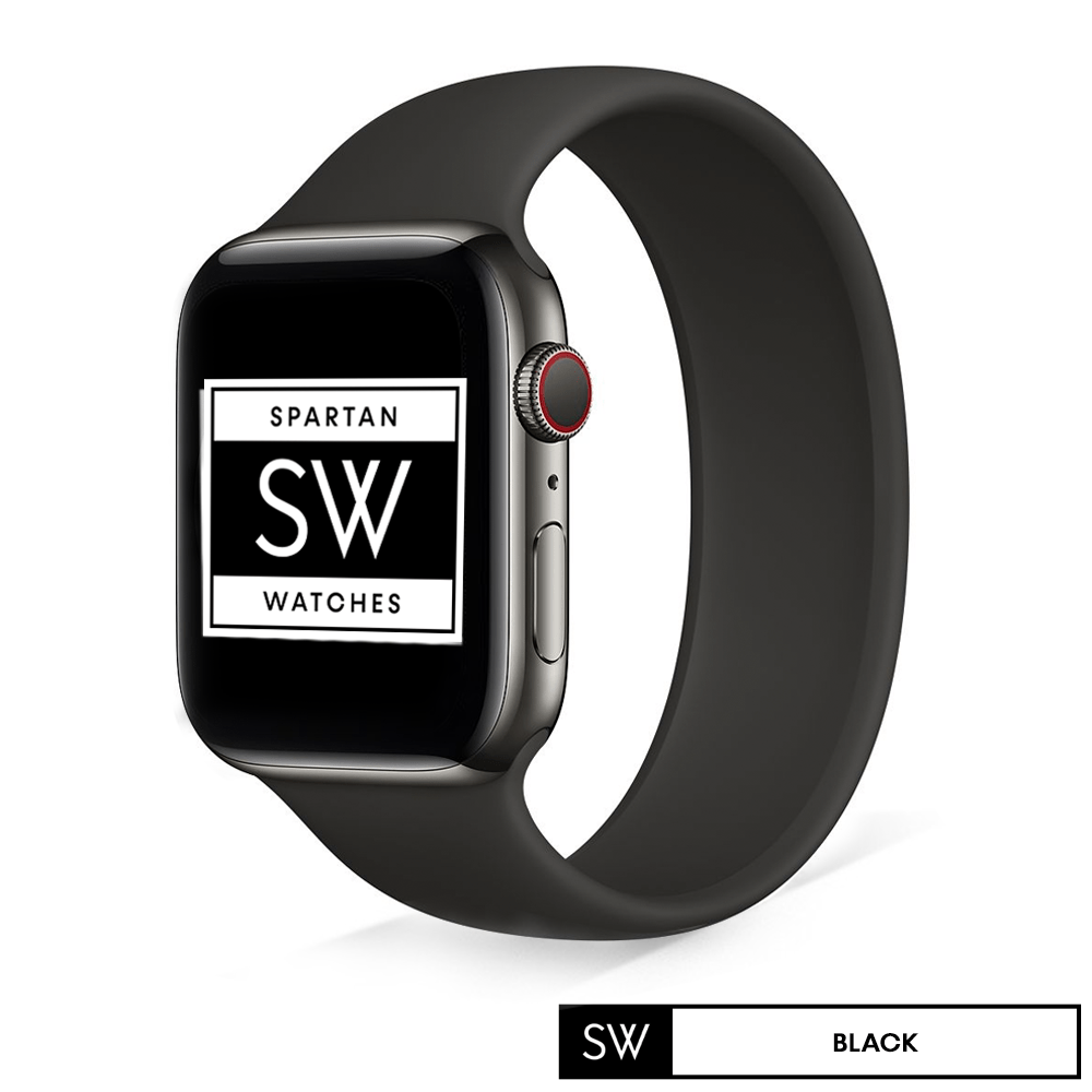 Black Solo Loop Silicone Band for Apple Watch