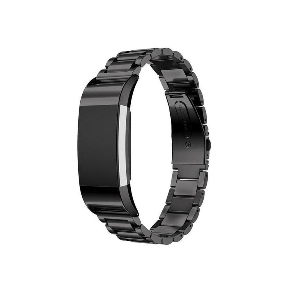 Spartan Watches Fitbit Watch Band Silver Stainless Steel Link Band for Fitbit Charge 2