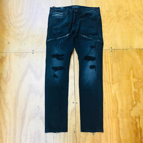 Cult Of Individuality Greaser Slim Straight Jeans 67B12-G11E Vintage Black