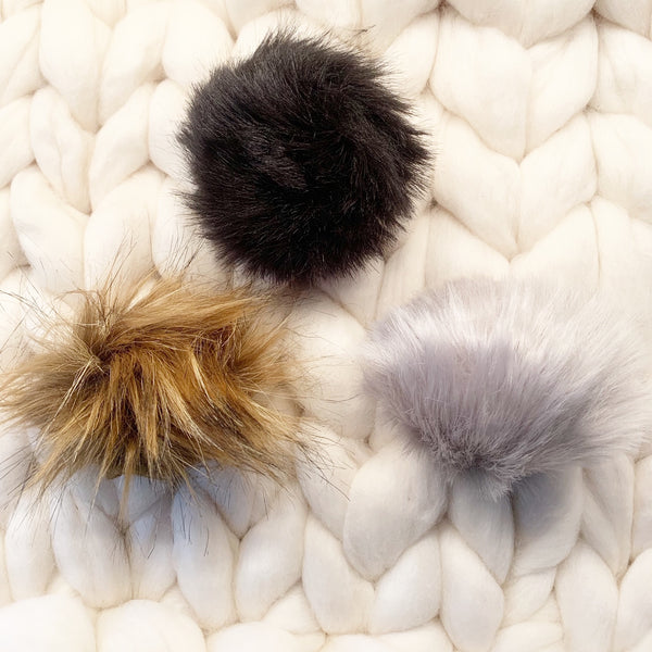 Faux Fur Pom Poms - Enhance Your Blanket