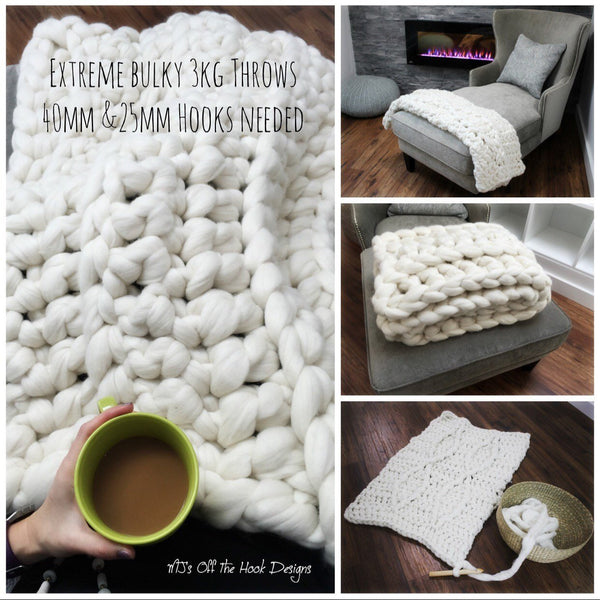 Blanket made from Mama Knows Luxury: MJs Off The Hook Designs Extreme Blankets Kit