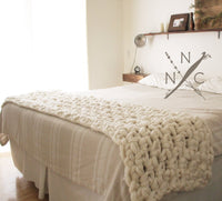 Extreme blanket made from Mama Knows Luxury Naturally Nora Extreme Crochet Hygge Blanket Kit