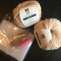 Mama Knows Luxury Pomtastic Hat Knitting Kit made in Canada