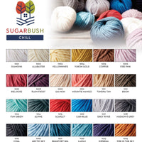 optional yarn selections for Mama Knows Luxury Sugarbush Chill Baby Blanket PDF Pattern