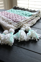 baby blanket made from Mama Knows Luxury: Luxury Baby Blanket Crochet Downloadable Pattern