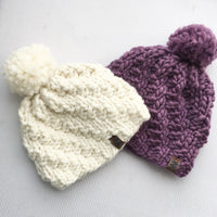 Hats made from Mama Knows Luxury Twist Top Yarn and Pattern Knitting Kit