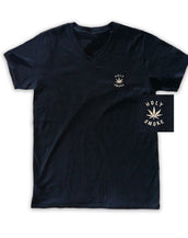 Holy Smoke Embroidered, Unisex V Neck Tee