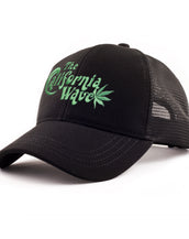 Dobby Mesh Trucker, California Wave, Unisex Black Cap