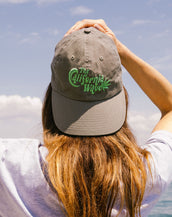Garment Washed, California Wave,  Unisex Olive Cap