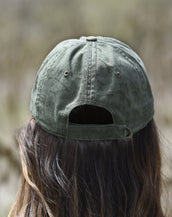 Crackle Washed, California Wave, Unisex Olive Cap