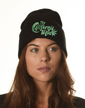 Acrylic Toque, California Wave, Unisex Black Toque