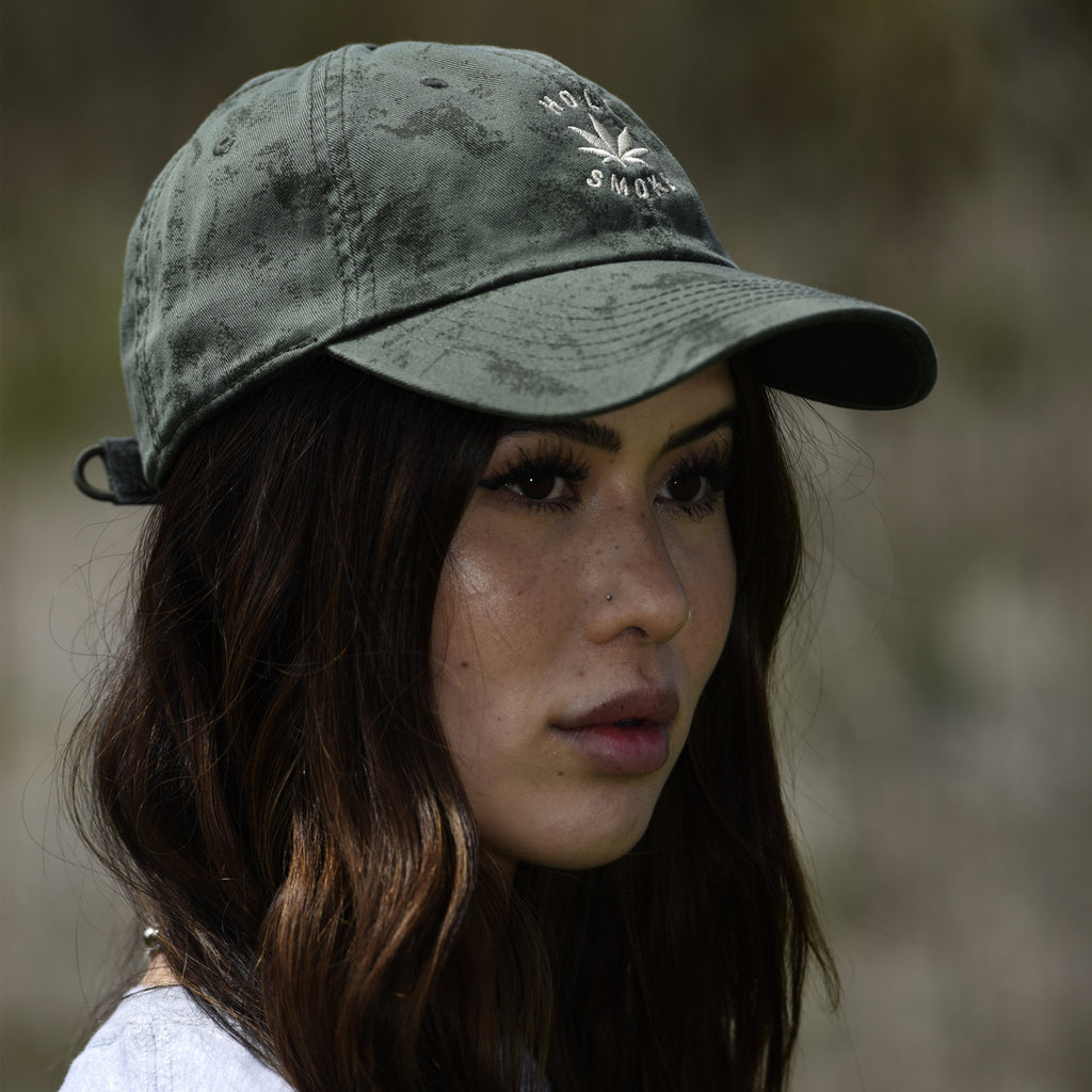 Crackle Washed, Holy Smoke, Unisex Olive Cap