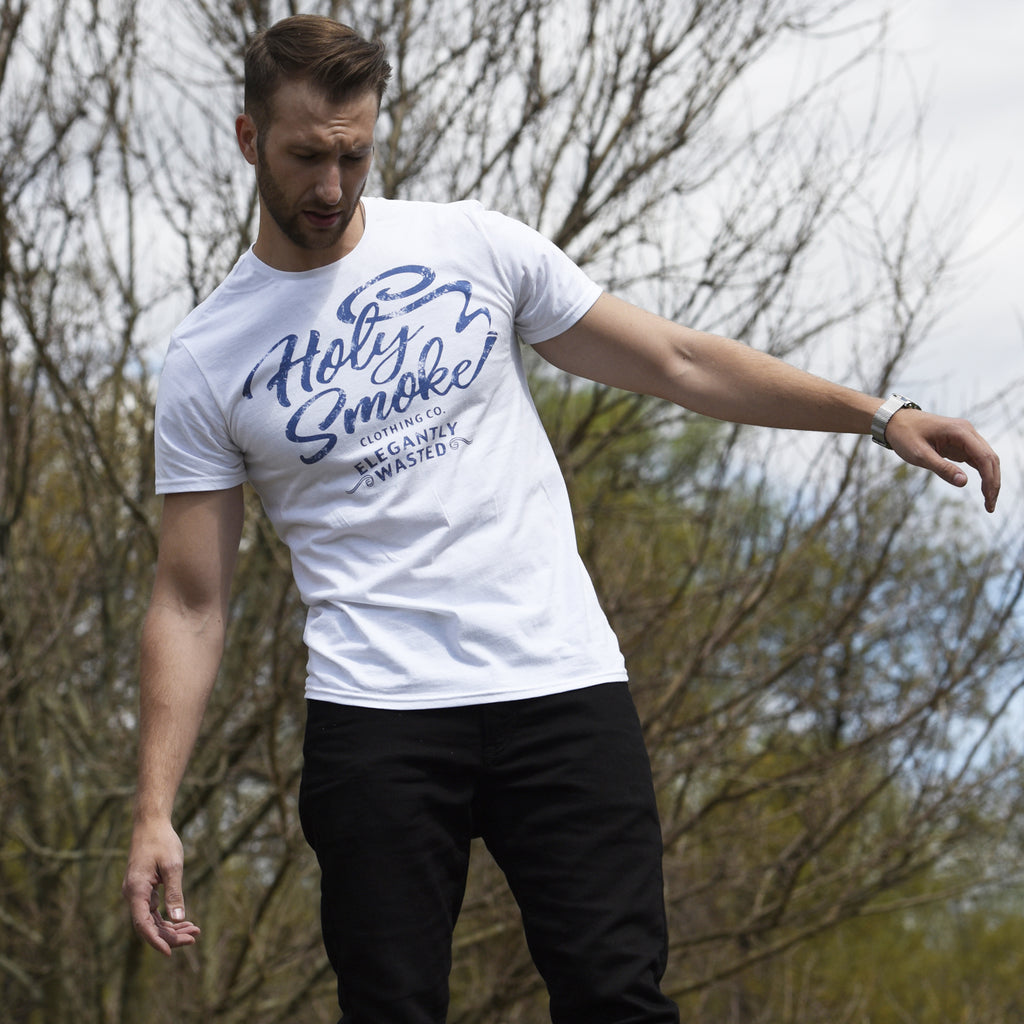 Elegantly Wasted, Holy Smoke, Mens Crew Neck Tee