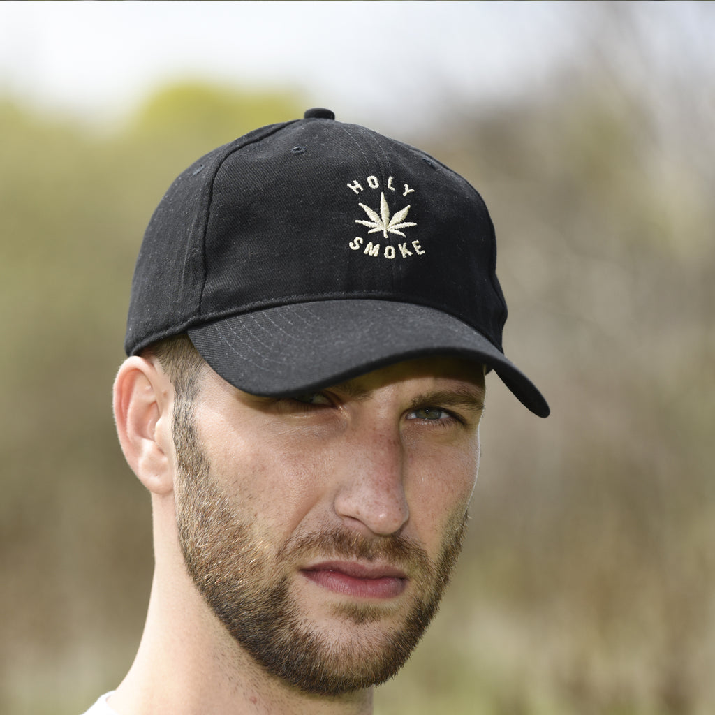 Heavy Cotton, Holy Smoke, Unisex Black Cap