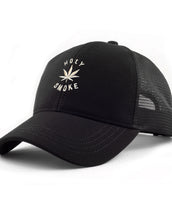 Dobby Mesh Trucker, Holy Smoke, Unisex Black Cap