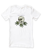 Skull Wreath, Holy Smoke, Womens Crew Neck Tee