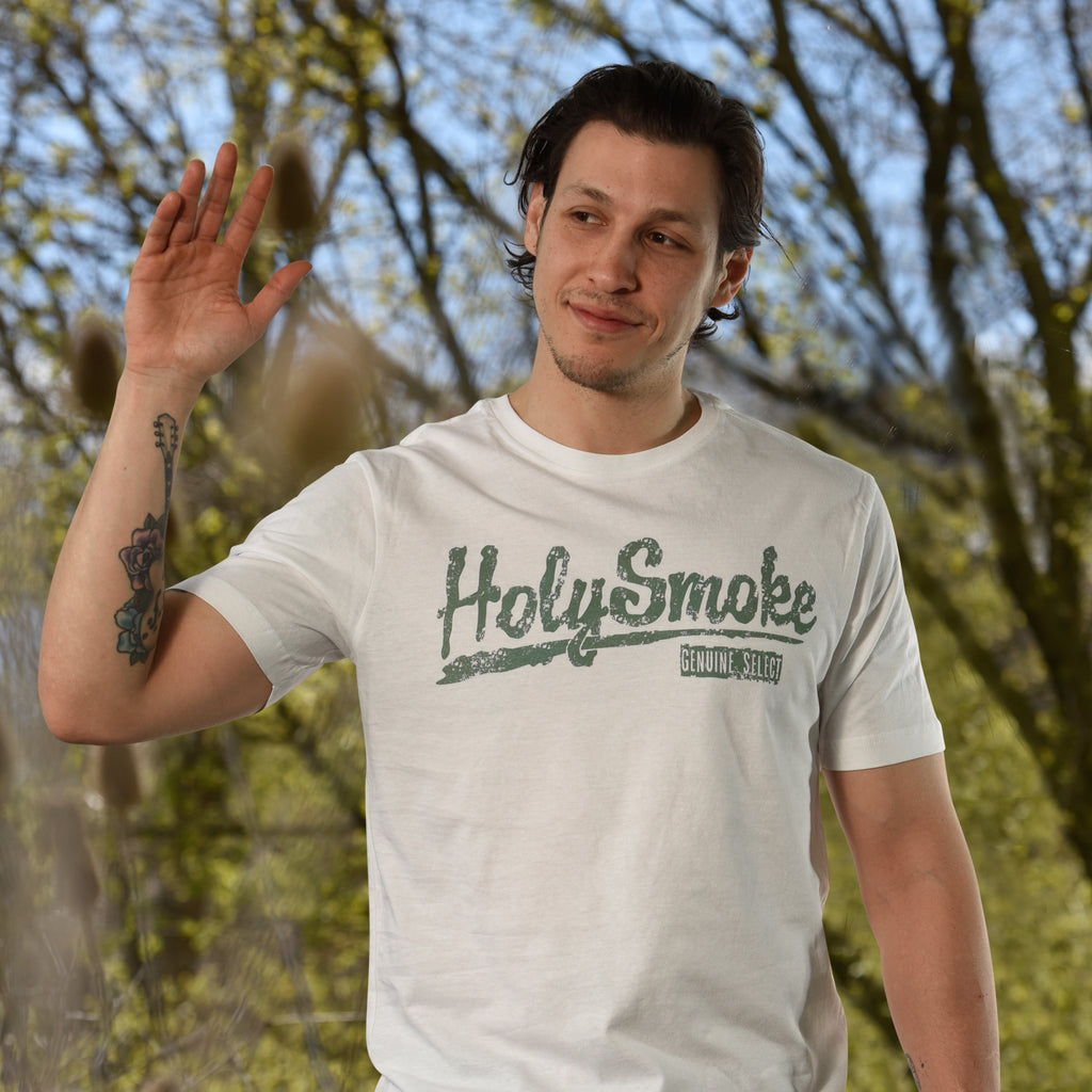 Baseball, Holy Smoke, Mens Crew Neck Tee