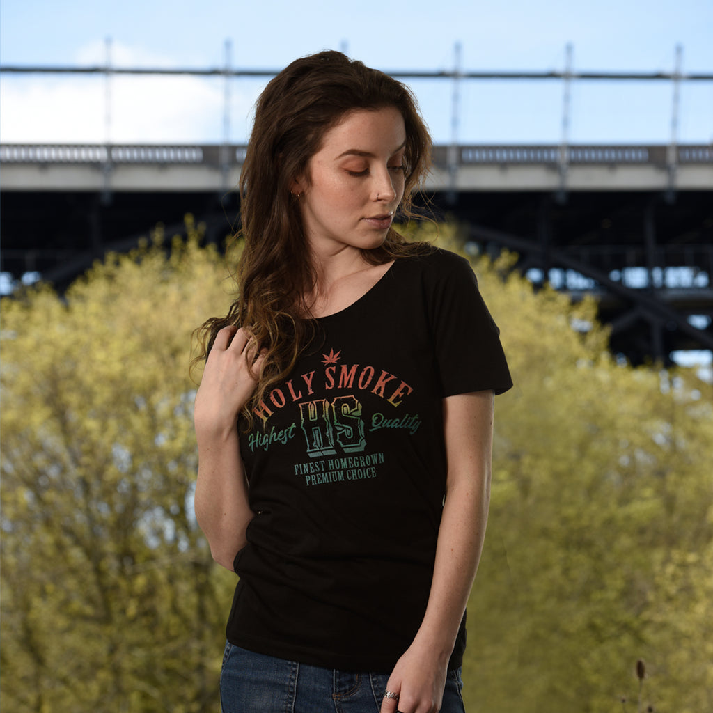 Highest Quality, Holy Smoke, Womens Crew Neck Tee