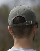 Garment Washed, Holy Smoke, Unisex Olive Cap