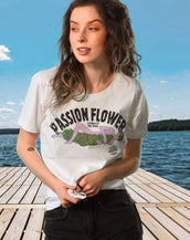 Passion Flower, California Wave, Women's Crew Neck Tee