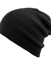 Slouchy Acrylic, California Wave, Unisex Black Toque