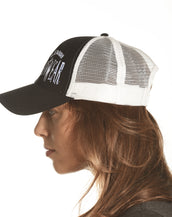 Trucker Black/White Mesh, Weed To Wear Higher, Unisex Cap