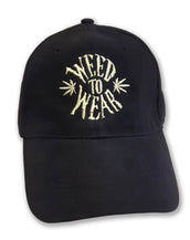 Heavy Cotton, Weed To Wear, Unisex Black Cap