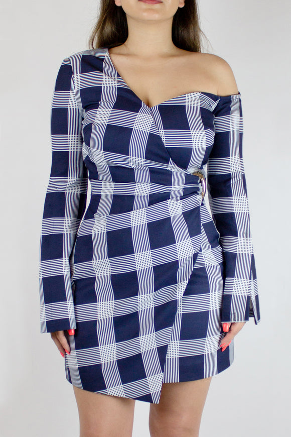 Chic Plaid Midi Dress