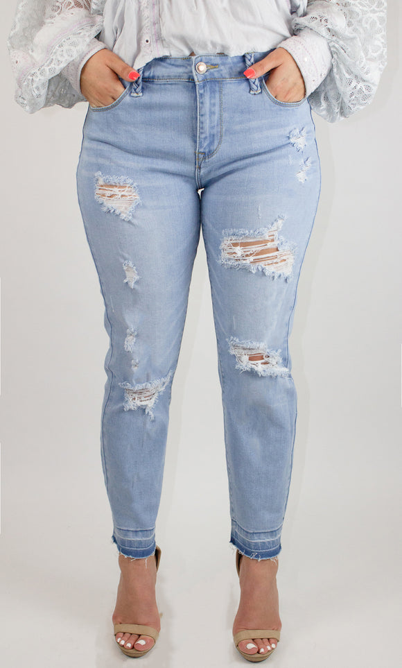 Distressed Denim Pants