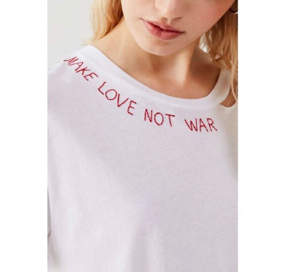 """Make Love Not War"" Tee"