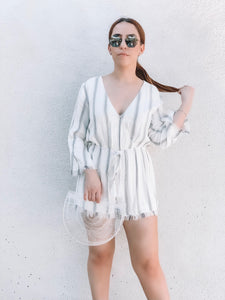 Striped Vacation romper