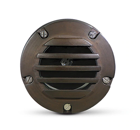 Brass In-Ground Housing Light with FX Luminaire LED - FX Luminaire Landscape Lighting