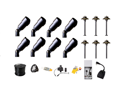 Quality DIY LED Landscape Lighting Kit w/Wi-Fi Control - Low Voltage Landscape lighting
