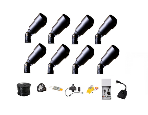 Starter DIY LED Landscape Lighting Kit w/Wi-Fi Control - Low Voltage Landscape lighting