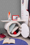 FIRST CLASS AIRPLANE MOTOR AND WINGS NIGHT STAND